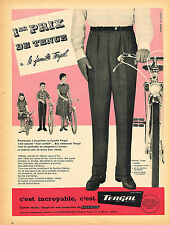 PUBLICITE ADVERTISING 124  1959  TERGAL   pantalon homme RHODIACETA