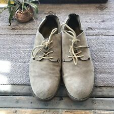 Merona Tan Suede Lace Up Loafers Mens Size 11