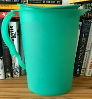 Tupperware Impressions 2 Qt Pitcher #3333 With Rocker Top Green, Used