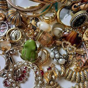 Job Lot Vintage Modern Costume Jewellery Gold Tone Bangles Rings Turquoise...