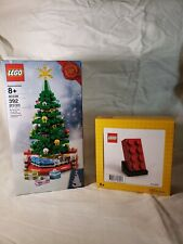 LEGO 5006085 BUILDABLE RED BRICK and 40338 Christmas Tree 2019 (New)
