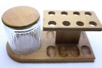Nice Pipe Stand for 8 Pipes with a Glass Humidor - By Decatur Industries