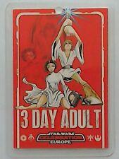 Star Wars Celebration Europe show pass 2007 three day Adult
