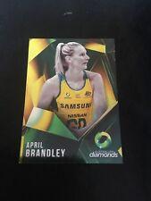 suncorp super netball trading card Australian diamonds April brandley AD-02