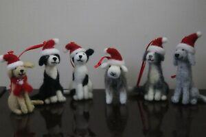 Needle Felted Collie, Bedlington, Staffie, Lab & Sheep Christmas Tree Decoration