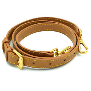 18mm Honey Brown Crossbody Vachetta Leather Strap Replacement For Louis Vuitton