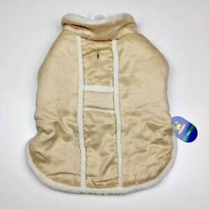 Light Tan Sherpa Dog Coat Jacket Size Large