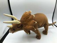 Hansa Portraits Of Nature Dinosaur Triceratops Plush Soft Stuffed Toy Animal