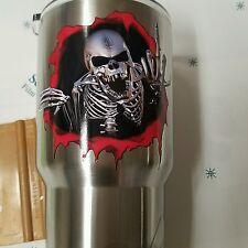Decal/Sticker for Cooler Cup Skelton Guy Finger