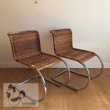 MIES VAN DER ROHE / MR10 Chaises Rotin Chrome Vintage Iconic BAUHAUS Design 1930