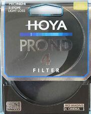 Hoya 77 mm Pro ND4 ND 4 2 paradas Lente Filtro-Nuevo y Sellado Reino Unido Stock