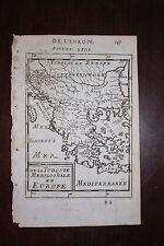 ✒ 1683 MANESSON MALLET la TURQUIE méridionale en Europe Carte