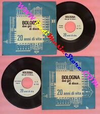 LP 45 7''BOLOGNA DUE GIRI DI DISCO 20 anni di vita 1968 italy PROMO no cd mc*vhs