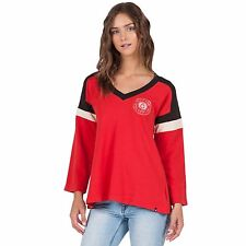 2016 NWOT WOMENS VOLCOM NUMBER ONE PULLOVER $55 S rad red jersey style sweater