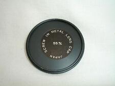 55mm metal screw front lens cap , Vintage, made in Japan, #4167