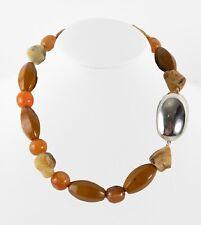 Simon Sebbag Multi Beads Sterling Silver Bead Necklace