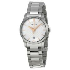 OROLOGIO DONNA GUCCI G-TIMELESS YA126523 ACCIAIO WATCH SILVER SWISS MADE CLASSIC