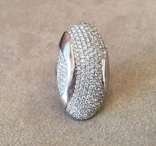 3.37 cts Pave Diamond Vertical Ring in 18K White Gold  - HM1483
