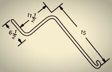 """.262 6.5""""x11.5""""x15"""" Wheel Rake Tooth Tine Fits Otma,H & S,Sitrex,M&W,Rossi,Koehn"""