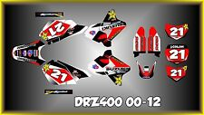 Suzuki DRZ400 DRZ 400  SEMI CUSTOM GRAPHICS KIT EUROWHITE