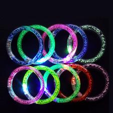 1Pc Luminous Light Up Acrylic Bracelet Wristband LED Flashing Glowing Bangle FR