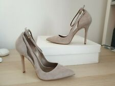 REISS Marla Suede Ankle-Strap Shoes - Clay (UK 7)