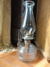KAADAN Diamond Block and Ring  Kerosene Oil Lamp 14 in tall Working Vintage