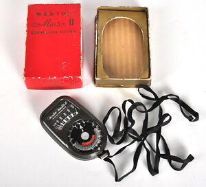 Weston Master II Universal Exposure Light Meter with Box and strap - WORKS