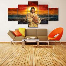 Jesus Christ Abstract 5 piece HD Modern Art Poster Wall Home Decor Canvas Print