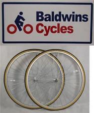 "27"" x 1 1/4 PAIR Bike Wheels + SCHWALBE Premium Amber Wall Tyre's & Tube's"