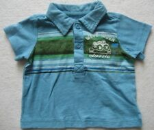PLACE BORN TO SURF Baby Poloshirt blau Gr. 3-6 Monate
