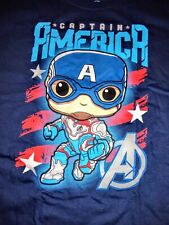 Funko Pop Captain America T-shirt Size XL NEW from FYE exclusive box