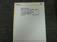 1993 1994 Volkswagen VW Golf GTI Jetta 1.9L Diesel Engine Service Repair Manual