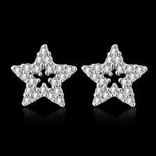 6b82c10a28a7 Elegante 18k 18ct Blanco relleno de oro CZ Stud Pendientes E-A741 GF  Estrella Regalo