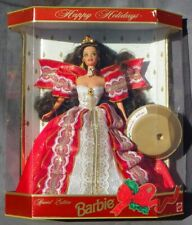 Barbie HAPPY HOLIDAYS Joyeux Noel 1997 Mattel 17832 voir photo poupée boite NRFB