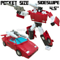 Kids Pocket Size MP MFT Car Robot G1 G2 Black Sideswipe Red Alert Action Figure