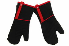 Cuisinart Quitled Heavy Duty Bbq Oven Mitts, 2pk Black/Red