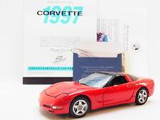 LOT 14281 | Brillante Franklin Mint 1:24 Chevrolet Corvette 1997 C5 Cabrio rot