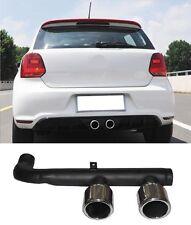 Für VW Polo 6R 2014-2017 Blende auspuff Auspuffblende Sportauspuff R-look Gti #1