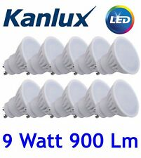 10x High Output Gu10 LED Bulbs 9 Watt 900lm 9W replaces 90W Cool Daylight White