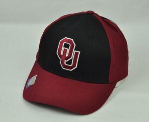 NCAA Captivating Headgear Oklahoma Mens Hat Cap Adjustable Maroon Black