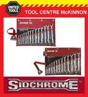 SIDCHROME SCMT22210 & SCMT22410 27pce RING & OPEN END METRIC & A/F SPANNER SET