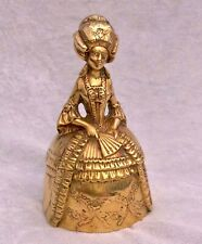 "LARGE ANTIQUE / VINTAGE 6"" HEAVY BRASS GEORGIAN LADY BELL"