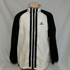 VTG Adidas Windbreaker Jacket Equipment Coat 90s Stripe Colorblock Trefoil Large