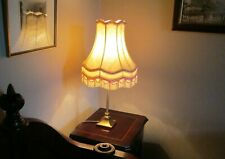 Pair of Table/Bedside Lamps With Antique Brass Finish - Mint - Simple But Classy