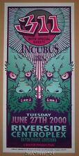 311 Incubus Baton Rouge Riverside Mark Arminski Poster Print 2000 Signed