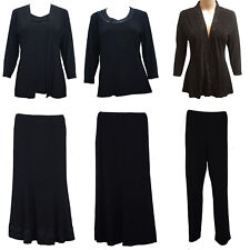 Jenny Lloyd Plus Size Black Top Jacket Bottom Skirt Suit Separates Sale!