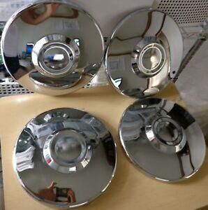 VW BUG Wheel Hub Cap Center 4pcs 4holes Chromed VOLKSWAGEN BEETLE T2 No Logo T3