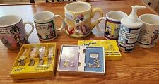 Huge lot of Hallmark Maxine Mugs, soap dispenser, playing cars, cheese knifes