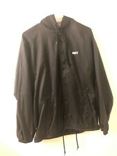 Obey Mens Hooded Coach Jacket M